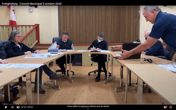 Frelighsburg -Conseil municipal -5 octobre 2020