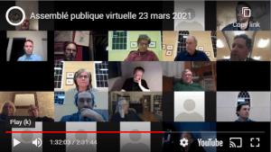 Assemblé publique virtuelle 23 mars 2021