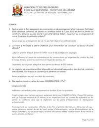 Foire Aux Questions - Projets De Règlement - Septembre 2021